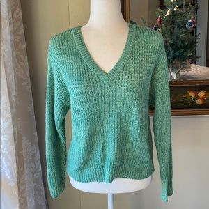 BP Cropped Green Sweater